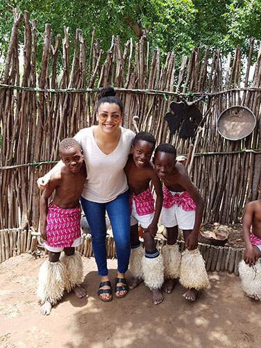 Bonnie-Sue, a William Blue graduate living the dream in Africa